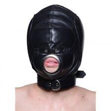 Strict Leather Padded Hood with Mouth Hole Medium Large Bondage Sensory Role Pla
