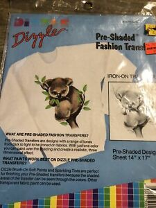Dizzle Pre Shaded Koala Iron On Transfer Vintage 50041 Bears 1989 USA