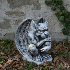 Große massive Steinfigur Gargoyle - Der Wächter Torwächter Steinguss frostfest