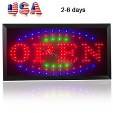 3-Color High Visible Led Light Flash Motion Business Open Sign �Usa Stock】