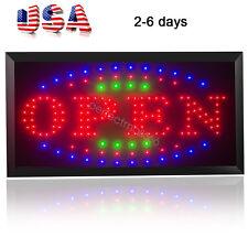 3-Color High Visible Led Light Flash Motion Business Open Sign for Business shop
