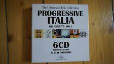 Progressive Italia Gli Anni 70 Vol.1 6 CD Box Set Sehr selten Rar
