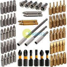 Screwdriver Bits Phillips Slotted Torx Hex Square Pozi Impact Insert Power Tool