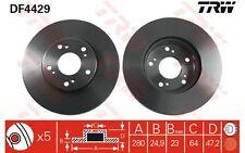 TRW Juego de 2 discos freno 280mm ventilado HONDA ACCORD JEEP GRAND DF4429