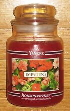 Yankee Candle - IMPATIENS - 22 oz - Black Band - RARE AND VERY HARD TO FIND!!