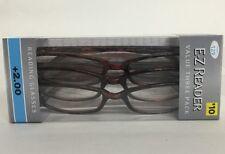 LOT OF 3 FOSTER GRANT HADLEY TORTOISE READING GLASSES +2.00 NEW