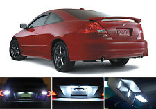 White LED Package - License + Vanity + Reverse for Honda Accord Coupe (8 Pcs)