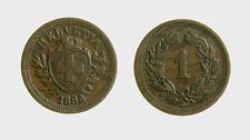 s528_14) Svizzera  Switzerland  Helvetia - SUISSE -  1 Rappen 1898 B