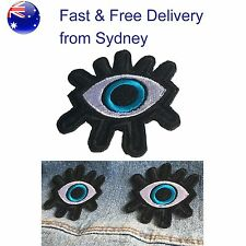 Intense Eye Iron on patch - looking at you kid blue eye with whimpers patches
