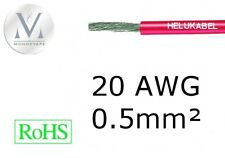 Cable 20AWG 0.5mm² Rouge - 1 mètre