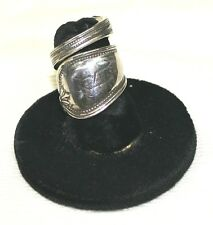 """Sterling silver vintage spoon ring, size 5 1/2, monogrammed """"R"""""""