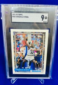 1992-93 Topps #362 RC Shaquille O'Neal SGC 9 Mint
