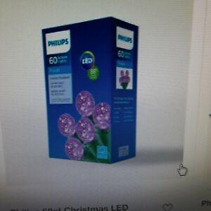 60 Philips Purple Sphere C4 Lights Indoor/Outdoor 19.6 Feet