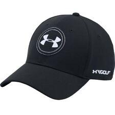 Under Armour Mens UA Golf Official Tour Cap Jordan Spieth 2.0 Stretch Flex Hat Black 001 L/xl