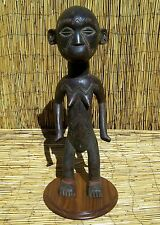 """African Makonde Figure From Tanzania or Mozambique 28"""" Tall with Stand"""