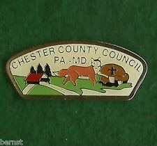 BOY SCOUT HAT PIN - CHESTER COUNTY COUNCIL