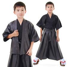 Japan Jungen Samurai Kendo Gi + Hakama + Haori Set  3-tlg Kinder Kostüm Kimono