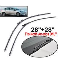 "For Ford Focus MK3 2012-2018 USA Models Front Windshield Wiper Blades Set 28""28"""