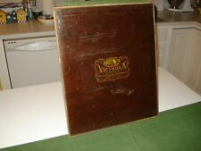 1906 VICTROLA PHONOGRAPH FACE PLATE PANEL WITH DOG LOGO, VERY NICE