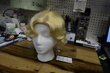 STfantasy Wig Cosplay Daily Blonde Short Curly Synthetic Hair