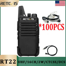 Retevis RT22 Two Way Radio UHF 16 CH VOX Walkie Talkies