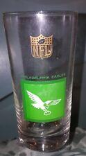 Vintage 1963 NFL Philadelphia Eagles Drinking Bar Glass gold logo Glasses