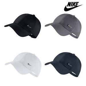Nike Mens Cap Metal Swoosh Adjustable Hat Sports Black White Navy Grey One Size