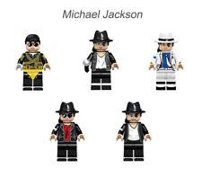 Michael Jackson Collection Set 5PCS Mini Dolls Building Blocks Figures Toys kids