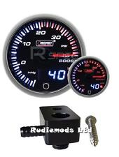 Ford Fiesta st180 60mm Jdm Doble Pantalla Boost Gauge PSI y de montaje adaptador