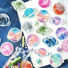 45Pcs Stationery Sticker DIY Planet Sticky Paper Moon P L1C0 F4H9