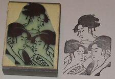 Three Japanese Women rubber stamp by Amazing Arts beautiful!