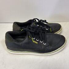 Crocs Golf Shoes Men's Bradyn Leather black green Size 10