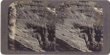 Suisse Eiger Glacier Photo Stereo Stereoview Papier argentique Vintage