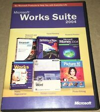 Microsoft Works Suite 2004 Word, Money, Picture It, Street & Trips w/product key