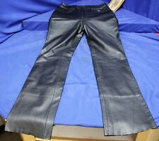 Harley Davidson Woman's Lined Leather Boot Cut Pants Size 6