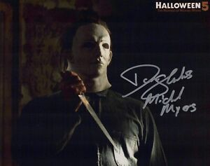 Halloween 5 movie 8x10 photo signed by actor Don Shanks IMAGE No3