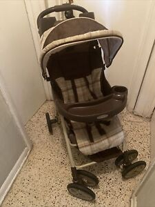 Graco stroller beige and brown single reversible seat stroller in good condition