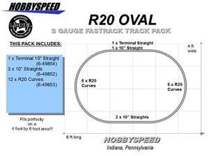 LIONEL AMERICAN FLYER FASTRACK S GAUGE R20 OVAL TRACK PACK Layout design NEW