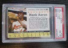 1961 Post Cereal Hank Aaron #107    PSA 8 NM-MT