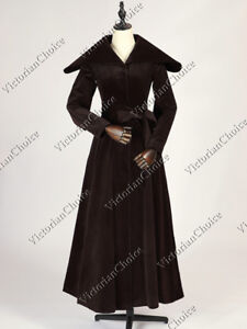 1920's Vintage Velvet Trench Flapper Cocoon Opera Coat Steampunk Theater C043