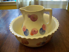 vintage pitcher & bowl South Wind pattern by W S George, Cavitt-Shaw Beautiful!