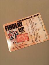University Of Findlay (Ohio) 2001-2 Women's Basketball Schedule Magnet, NCAA