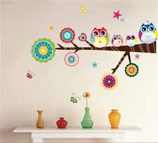 Owl Tree Quote Jungle Art Wall Stickers Wall Decor Kids Room Decal Mural decor