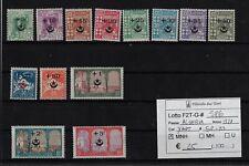 Algeria 1927 Francobolli precedenti sovrastampati Yvert & Tellier 58/70