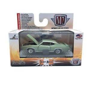 M2 Detroit-Muscle 1969 '69 Pontiac GTO The Judge Car Green Diecast 1/64 Scale