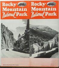 1940 Rocky Mountain Motor Company Colorado National Park brochure & map  b