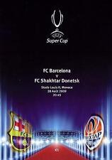 2009 SUPER COPPA programma-Barcellona V SHAKHTAR DONETSK