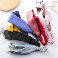 Yoga Elastic Hair Band Head Wrap Faux Silk Hairband Retro Cross Headbands