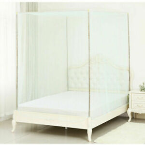 1.5m Bed Four Corner Post Student Canopy Bed Mosquito Net Netting Mesh Bedroom