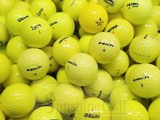 100 Near Mint Yellow Color Assorted Mix Aaaa Used Golf Balls - Free Shipping